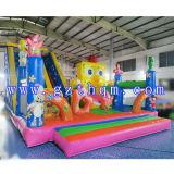 子供の漫画膨脹可能な跳躍Bed/0.55mm PVC膨脹可能な警備員の城