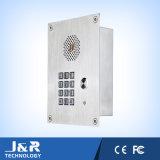 Teléfono sin manos de la entrada del montaje rasante, teléfono de la puerta, teléfono del acceso