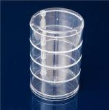 Rectángulo de almacenaje cosmético giratorio cristalino transparente (HY-YX0073)