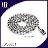 catena della sfera di metallo del ferro di 2.4mm con la bobina
