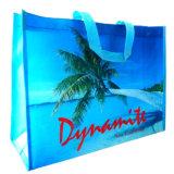 習慣はリサイクルする非編まれたPP (14032912)から成っているショッピング・バッグを