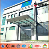 Comitato di alluminio della facciata dell'argento PVDF della costruzione luminosa del rivestimento