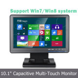 Monitor multi capacitivo proyectado 10.1 pulgadas del LCD de la pantalla táctil