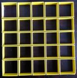 Metalldecke. Beispiele für blaue Farben-Gitter-Aluminiumdecke