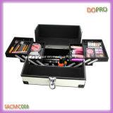 Rectángulo de cuero blanco del kit del maquillaje de la PU de la vanidad con el precio el bueno (SACMC008)