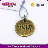 Het Embleem van het Metaal van de douane etiketteert de Zilveren Charmes van het Metaal van het Plateren voor Jewellry