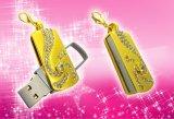 Les cadeaux en gros libèrent le lecteur flash USB 8g de bijou de logo