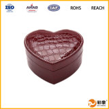 Caja de joyería de cuero al por mayor de encargo exquisita de la caja de regalo de la joyería
