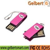 Minimetallschwenker USB-Blitz-Laufwerk USB-Stock mit Firmenzeichen