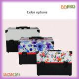 Schöne Drucken-Aussicht-kosmetische Verfassungs-Koffer mit Schultergurt (SACMC011)