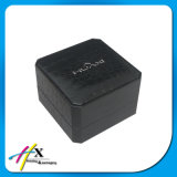 Le papier maroquin noir a enduit le cadre de empaquetage de montre de cadre de montre bon marché en plastique simple de luxe de boutique