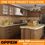 Muebles clásicos de las cabinas de cocina del proyecto de los PP de la nuez de Oppein (OP14-PP01)