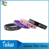 Concevoir Adult en fonction du client Silicone Bracelets avec Color Filled (TH-band078)