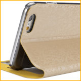iPhoneのための熱いSmart View Window Leather Luxury Flip Case