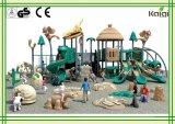 Cour de jeu extérieure de Cour de jeu-Dinosaur de stationnement de chaume de maison de parc à thème extérieur de glissière de cour de jeu de groupe de Kaiqi