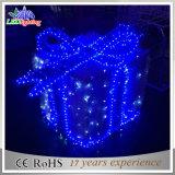 옥외 LED 훈장 크리스마스 선물 상자 모양 휴일 빛
