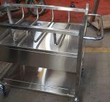 Thr Stainless Steel Bassinet Trolley com Berço