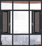 L'Italie guichet de tissu pour rideaux d'isolation thermique de 120 séries avec la moustiquaire