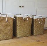 (BC-ST1076) Cesta de lavadero natural manual pura de la paja de la buena calidad