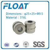 Bola de acero inoxidable de la bola del flotador magnético para Flotante interruptor de nivel de agua (25 mm * 25 mm * 9,5 mm)