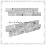 Плакирование каменной стены культуры Carrara белое мраморный