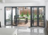 Jardín plegable las puertas de aluminio de Bifolding para el jardín
