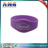 Bracelets imperméables à l'eau de silicones d'IDENTIFICATION RF pour différents billets en parc d'attractions