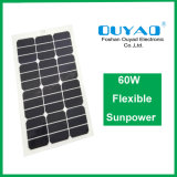 El panel solar flexible semi flexible de Sunpower del panel solar del panel solar 60W