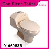 Toilette d'une seule pièce de Siphonic de bouton de dessus de salle de bains d'Earthware de prix bas