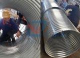 Pipa de acero acanalada del diámetro grande del precio de fábrica