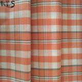 El hilado tejido 100% del popelín de algodón teñió la tela para las camisas/alineada Rls40-39po