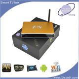 Rectángulo video elegante androide de Ott TV del rectángulo superior determinado de la identificación el 1000m del rectángulo de la caja TV del metal de Foison del gigabit del LAN Amlogic S812 de la base privada del patio