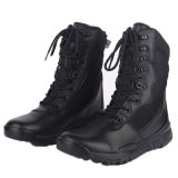 Ботинки тактических ботинок полиций кожи черноты хорошего качества воинские (2006)