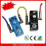 Cabo de amplificador de cabo de pedal de guitarra Cabo de conexão colorido para guitarra elétrica