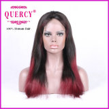A peruca brasileira da parte dianteira do laço para mulheres com linha fina natural, reta, todas as cores está disponível