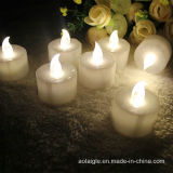 Anniversaire Gift Wedding Decoration DEL Candle avec Yellow Light