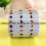 Étiquettes de PVC de collants de nom de dessin animé de Cendrillon pour la garde, école maternelle, jardin d'enfants