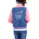 Cappotto casuale di Hoodies di modo delle donne dei jeans su ordinazione del denim