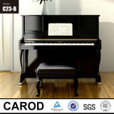 黒いBaby Upright Piano 123cm