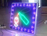 Chapeau de paille 534 extérieur par la lampe de la lettre exposée par trou DEL