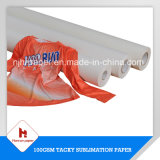 Sportswearのための100GSM Bset Sublimation Roll Paper StickyかTacky Sublimation Transfer Paper