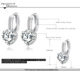 Femmes de Zircon de coeur Wedding la boucle d'oreille de Huggie (CER0151-B)