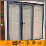 Vidro de deslizamento exterior vitrificado dobro/porta de alumínio