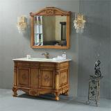 旧式な床の永続的な木製の浴室の虚栄心
