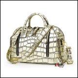 De gouden Handtas van het Leer van het Patroon van de Steen voor Vrouwen