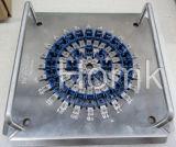 Dispositif de polissage de fibre avec le traitement