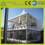 Barraca de acampamento de alumínio do famoso do PVC da ponte dobro para o banquete de casamento