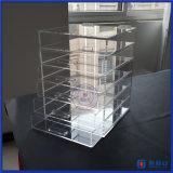 아크릴 메이크업 조직자 장식용 저장 전시 상자