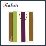Лоснистый прокатанный подарка нашивок бумаги искусствоа мешок вертикального широкого бумажный