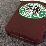 Het hete Geval van het Silicone van het Roomijs van Starbucks van het Beeldverhaal voor iPhone6